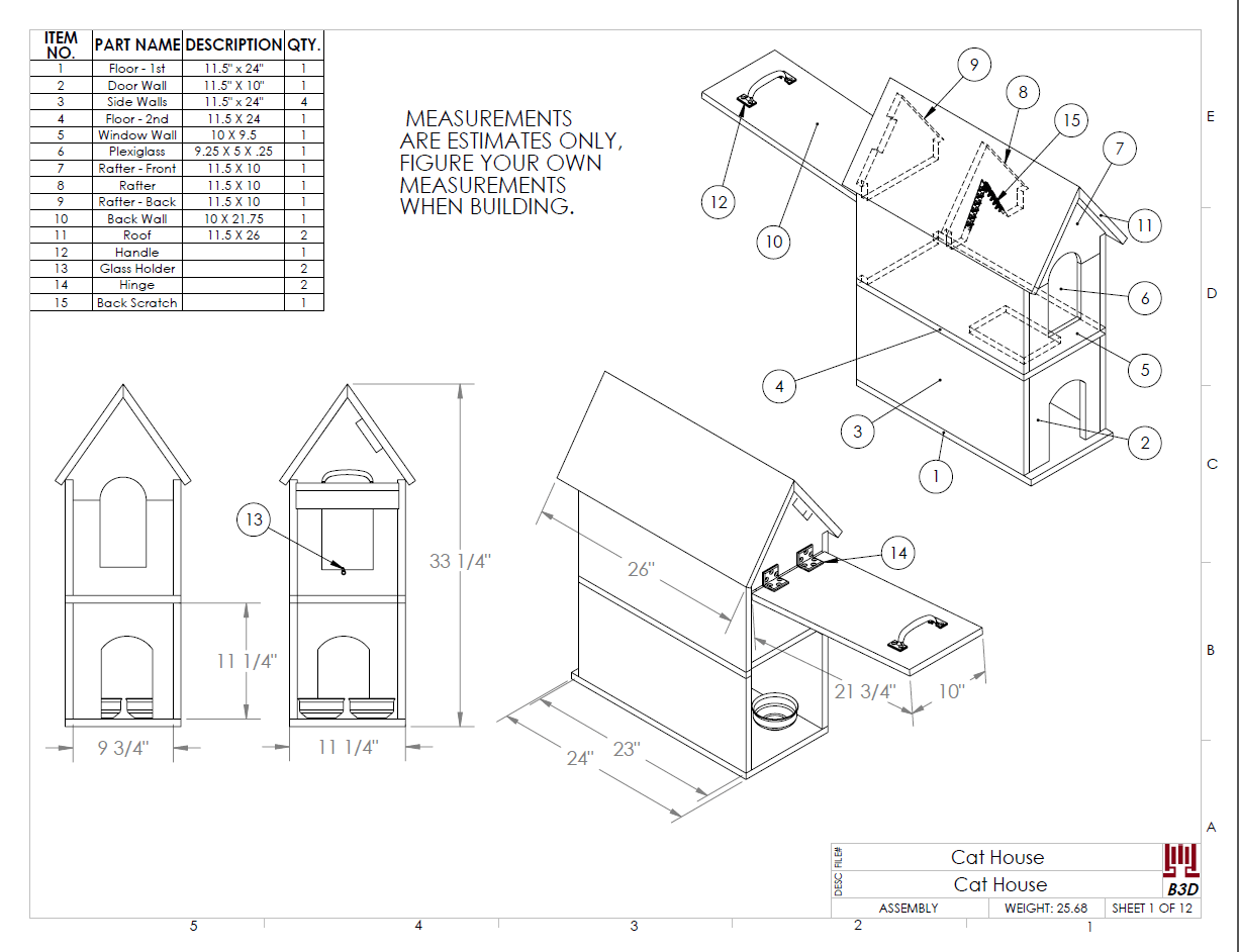 how to build a cat house with drawings download designer rants Types of Cats cat house build plans and instructions drawing diy pet shelter