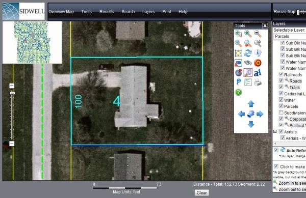 Aerial Satellite Photo - Measure Lot Square Footage
