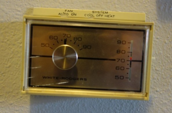 Nest Compatibility, HVAC Controls, Mid 1970s thermostat 1- face