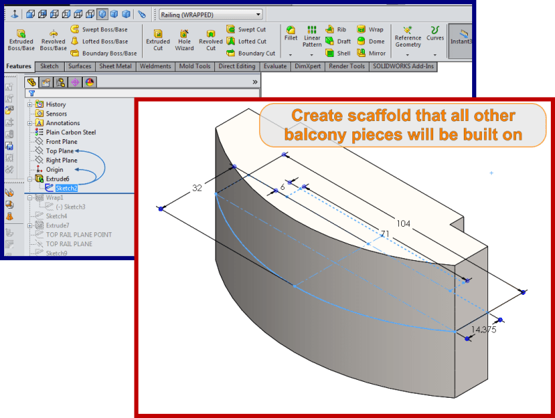 Curved Balcony Design Faux Wrought Iron Cad How To Prints