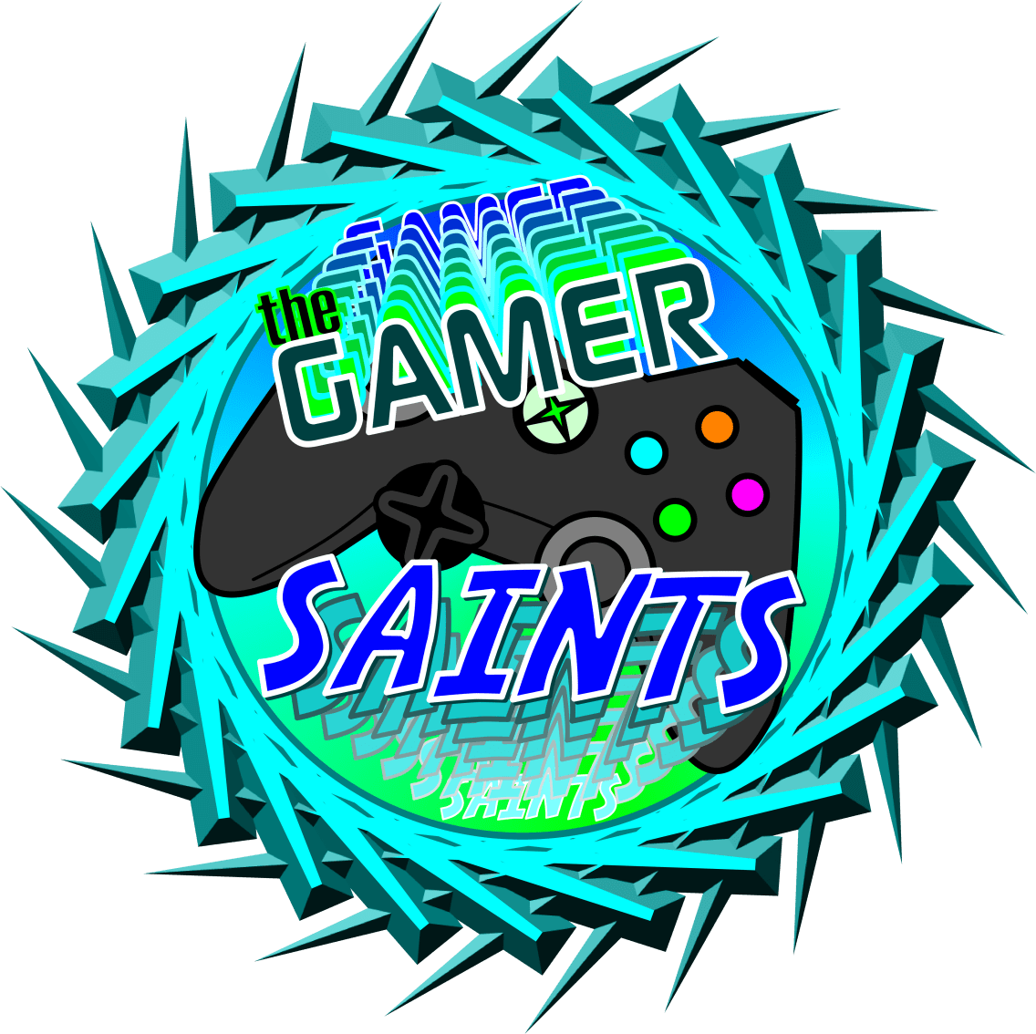 Logo created for the Gamer Saints Lego League Team