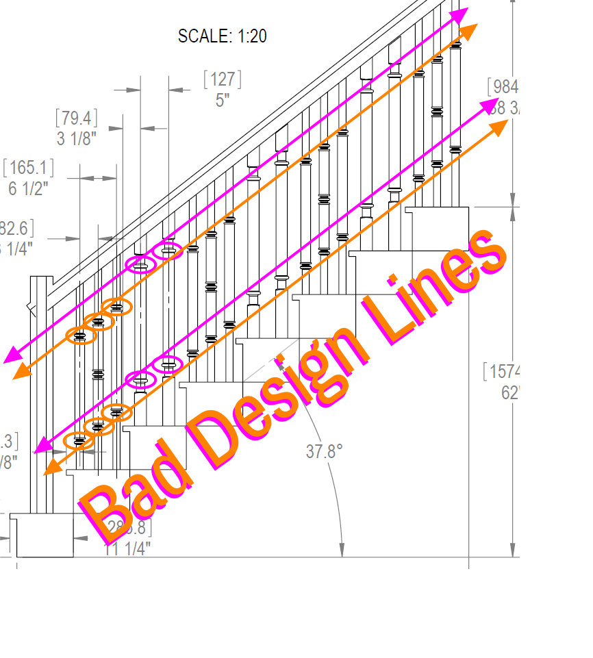 STAIRCASE BALUSTER DESIGN LINES 3