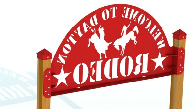 RENDER - DAYTON RODEO WELDED SIGN ASSEMBLY 95IN REAR 1