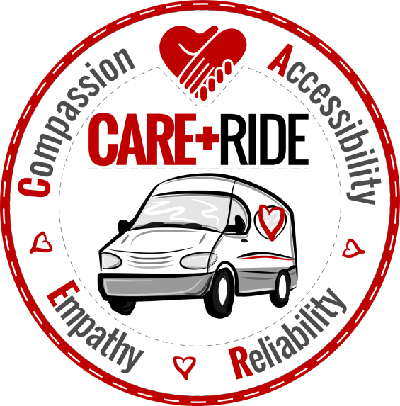 CARE RIDE LOGO - ROUND PATCH WHITE-WHITE 1450px