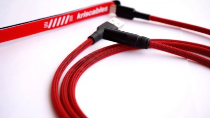 Custom Coiled USB Aviator Keyboard Lemo cables kriscables