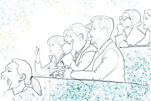 Undervisning, konferanse. Klinikk for krisepsykologi. Psykologsenter Bergen. Psykologfellesskap. Kriseberedskap, krisehåndtering, kriseledelse, krise, krisesenter, traumeterapi, traumepsykologi, traumebehandling, traumer, traumesymptomer, kurs, veiledning, undervisning, beredskap, beredskapsledelse, beredskapsavtale bedrift, debriefing, kollegastøtte, kollegastøtteordning, sakkyndig arbeid, spesialisterklæring, individualterapi, gruppeterapi, parterapi, komplisert sorg, sorgterapi. Etterlatte, død, dødsfall, sosial nettverksstøtte. Sorgprosess. Sorgreaksjoner. Takle bearbeide sorg. Illustrasjon.