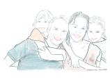 Familien. Klinikk for krisepsykologi. Psykologsenter Bergen. Psykologfellesskap. Kriseberedskap, krisehåndtering, kriseledelse, krise, krisesenter, traumeterapi, traumepsykologi, traumebehandling, traumer, traumesymptomer, kurs, veiledning, undervisning, beredskap, beredskapsledelse, beredskapsavtale bedrift, debriefing, kollegastøtte, kollegastøtteordning, sakkyndig arbeid, spesialisterklæring, individualterapi, gruppeterapi, parterapi, komplisert sorg, sorgterapi. Etterlatte, død, dødsfall, sosial nettverksstøtte. Sorgprosess. Sorgreaksjoner. Takle bearbeide sorg. Illustrasjon.