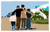 Flyktningbarn flyktninger. Klinikk for krisepsykologi. Psykologsenter Bergen. Psykologfellesskap. Kriseberedskap, krisehåndtering, kriseledelse, krise, krisesenter, traumeterapi, traumepsykologi, traumebehandling, traumer, traumesymptomer, kurs, veiledning, undervisning, beredskap, beredskapsledelse, beredskapsavtale bedrift, debriefing, kollegastøtte, kollegastøtteordning, sakkyndig arbeid, spesialisterklæring, individualterapi, gruppeterapi, parterapi, komplisert sorg, sorgterapi. Etterlatte, død, dødsfall, sosial nettverksstøtte. Sorgprosess. Sorgreaksjoner. Takle bearbeide sorg. Illustrasjon.