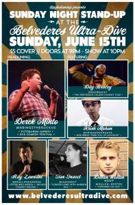 Sunday Nite Stand Up at Belevederes