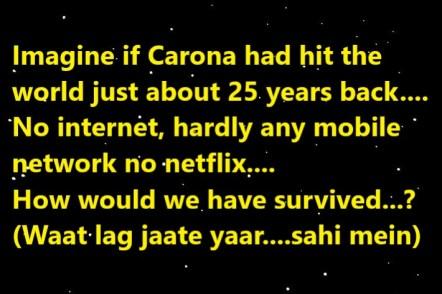 Corona 25 years back