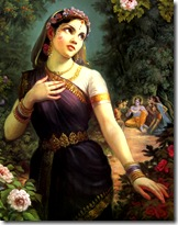 Shrimati Radharani always thinking of Krishna