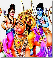 Rama and Lakshmana with Hanuman, the infallible devotee