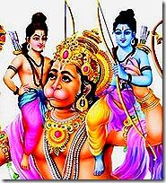 Rama and Lakshmana with Hanuman, the infallible devotee