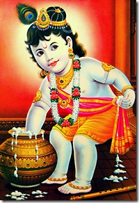 Lord Krishna stealing butter