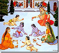 Lord Rama with His brothers and mothers