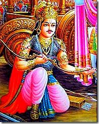 Arjuna - a great kshatriya warrior
