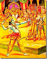 Lord Rama lifting the bow