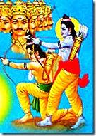 Rama and Lakshmana fighting Ravana