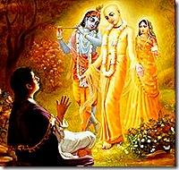 Lord Chaitanya with Ramananda Raya