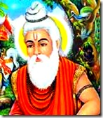 Valmiki thinking of Rama