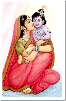 Queen Kausalya with Lord Rama