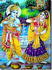 Life in the spiritual world with Radha and Krishna