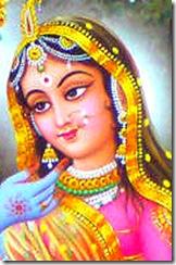 Shrimati Radharani - always thinking of Krishna