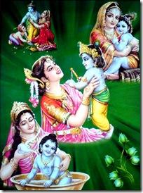 Mother Yashoda loving Krishna