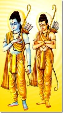 Lakshmana with Rama