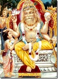 Lord Nrishmadeva blesses Prahlada Maharaja