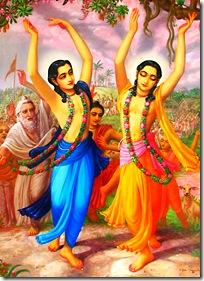 Gaura Nitai chanting and dancing