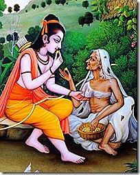 Shabari with Rama