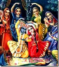 Krishna with Radha and the gopis