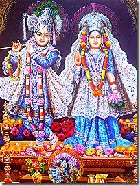 Radha Krishna deity worship