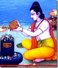 Lord Rama worshiping Lord Shiva