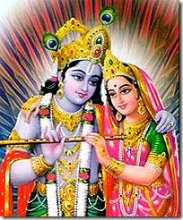 Radha and Krishna - the divine lovers
