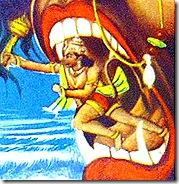 Hanuman with Surasa
