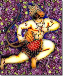 Hanuman flying
