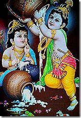 Krishna and Balarama playing