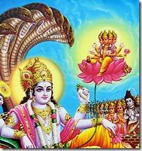 Lord Vishnu with Brahma