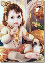 Lord Krishna with parrot