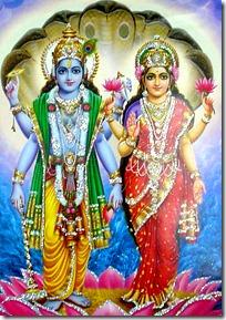 Lakshmi Devi and Lord Vishnu