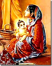 Lord Chaitanya with mother