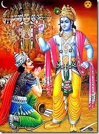 Krishna instructing Arjuna