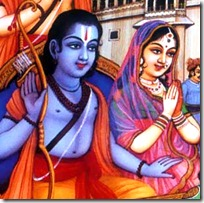 Sita and Rama leaving Ayodhya