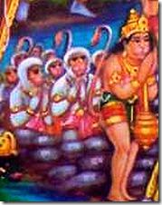 Hanuman with the Vanaras