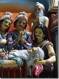 Pandavas with Bhishmadeva