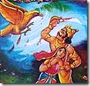 Ravana fighting off Jatayu