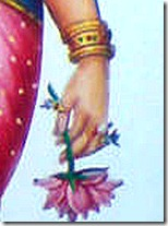 Sita holding lotus flower