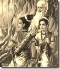 Lakshmana and Rama with Vishvamitra